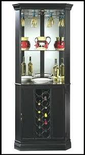 corner bar cabinet for your storage miller ii wine and refrigerator