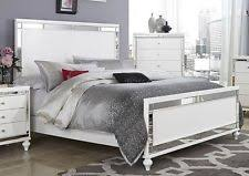 white king bedroom sets. GLITZY 4 PC WHITE MIRRORED KING BED N/S DRESSER \u0026 MIRROR BEDROOM FURNITURE SET White King Bedroom Sets S