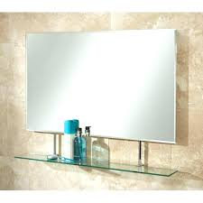Bathroom Mirror With Glass Shelf Home Design