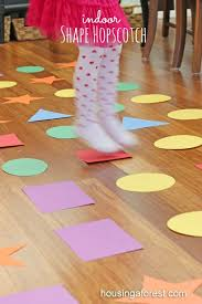 indoor activities for kids. Indoor Games For Kids ~ Shape Hopscotch Is A Fun Gross Motor Game Activities