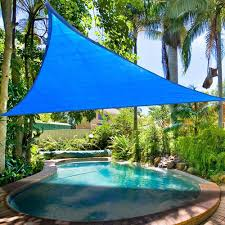 16 5 triangle sun shade sail patio deck beach garden yard outdoor canopy cover uv blocking blue com