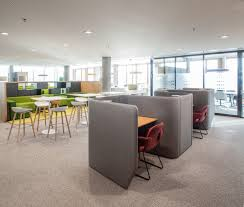 office cubicle acoustics office solutions cell work open space lobby custom  furniture design interior    Pinteres