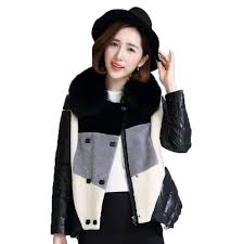 real fur coat genuine leather jacket sheepskin coat fox fur collar wool jacket autumn winter coat