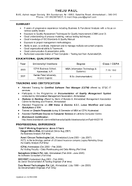 Junior Business Analyst Resume Lovely Business Analyste Sample India
