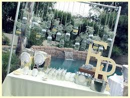 vintage grey yellow bridal shower