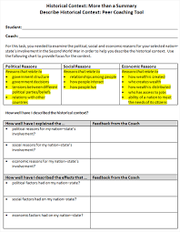 Historical Context Chart Historical Context More Than A Summary Instructional