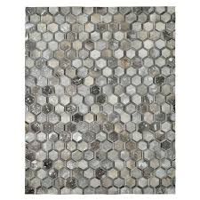 8 x 10 area rug gray cowhide patchwork 8 x area rug main image 1 of