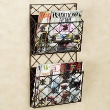 adalgio fleur wall magazine rack