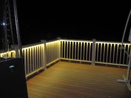 Led strip deck lights Light Garage Deck And Balcony Design With Led Lighting Traditional Porch With Led Deck Lighting Strips Tools Trend Light Odyssey Led Strip Light Aurora Deck Lighting Decksdirect In Stylish