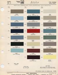 Mopar Color Charts 66 Thru 72