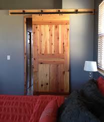 knotty pine interior barn door for home bedroom decofurnish