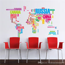 creative office wall art. Brilliant Office Office Wall Art Colorful Letters World Map Stickers Living Room  Home Decorations Creative Pvc Decal Mural Diy Intended Creative Office Wall Art N