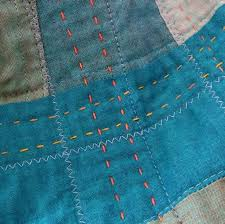 95 best big stitch quilting images on Pinterest | Quilting tips ... & effective texture with large stitches; good colors for blue/denim Adamdwight.com