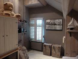 Prachtige Met Steigerhout Gestylde Kinder Slaapkamer Interieur