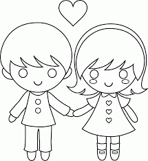 Small Picture Coloring Pages Boy And Girl Coloring Pages Enchanting Coloring
