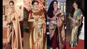 Latest Design Kanjivaram Sarees Top 25 Bollywood Actress Rekha Kanjeevaram Saree Designs Kanchipuram Sarees Kanjivaram Silk