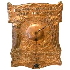 arts crafts wall clock by liberty and co for