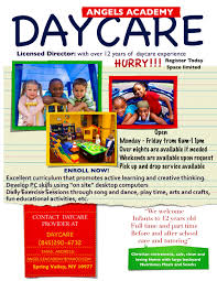 Childcare Flyers Daycare Flyers Printables Coastal Flyers