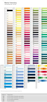 Mettler Embroidery Thread Color Chart Heres A Chart To