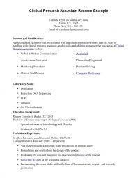Clinical Research Associate Job Description Resume Clinical Research  Associate Job Description Resume ...