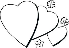 Small Heart Coloring Pages Trustbanksurinamecom
