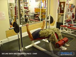 Barbell Dumbbell Or Smith Bench PressSmith Bench Press Bar Weight
