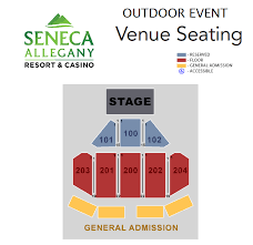 Seneca Allegany Casino Events Center Seating Chart Seneca Allegany Event Center Seneca Allegany Resort Casino