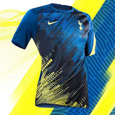 The away design is a far bigger removal from the norm, coming in a dark green colour, a round neck again with a yellow trim, and black and pink stripes down the side. Nike Launch Spurs 20 21 Training Wear Collection Soccerbible