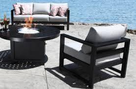 cast aluminum patio furniture wynn patio conversation set with a modern teak design in toronto