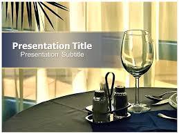 Powerpoint Templates Food Free Powerpoint Templates Restaurant Presentation Wisada
