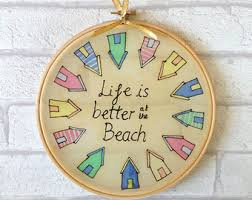 Beach Hut Decorative Accessories Beach holiday decor Etsy 8
