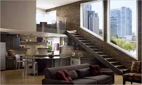 Small Office Furniture Ideas Exposed Brick Loft Design Ideas Loft - Loft apartment brick