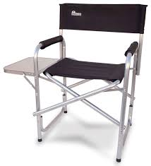 Earth Heavy Duty Folding Director s Chair With Side Table Beach