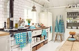 Modern Retro Kitchen Linens Home Art Decor Vintage Style Kitchens Classy Modern Vintage Kitchen