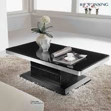 contemporary coffee table sets. Furniture, Black And Silver Rectangle Glass Modern Coffee Table Sets Designs To Decorate Small Living Contemporary Z