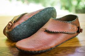 10th century scandinavian turnshoe with recycled rubber soles