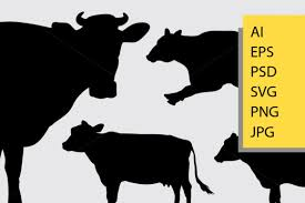 Cow Animal Silhouette Graphic By Cove703 Creative Fabrica