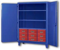 industrial storage cabinet with doors. Unique Doors Nine Drawer Big Blue Storage Cabinets On Industrial Cabinet With Doors S