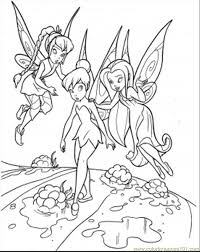 Teaching Tinkerbell Coloring Page Free Disney Fairies Coloring ...
