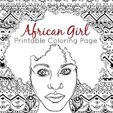 Small Picture African Coloring Page Adult Coloring Page African Girl