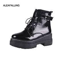 aleafalling women boots garden girl platform ankle motorcycle all season outdoor high all match shoes thicken bottom wbt158