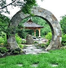 garden arch with gate building moon plans for australia garden arch
