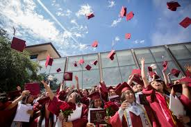 on the border early college high schools are a solution for first students tossing their caps after graduating from the laredo early college high school on 3 2016