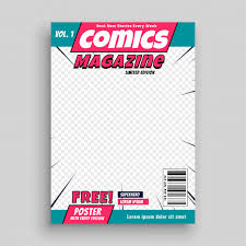 Coverpage Template Comic Magazine Cover Page Template Vector Free Download