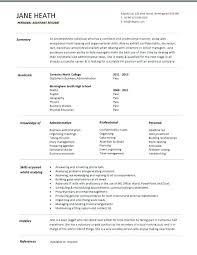 Personal Profile Resume Student Entry Level Personal Assistant
