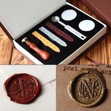 Classic Vintage Wax Badge Seal Stamp Wax Kit Set Letter Wax Seal Kit Set Handmade Hobby 220x220