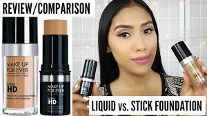 review parison make up forever ultra hd foundation vs cover stick foundation you