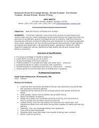 93 Restaurant Resume Templates Restaurant Manager Resume Sample