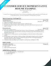 Example Of A Customer Service Resume Enchanting Customer Service Representative Resume Examples Customer Support