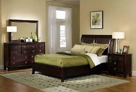 7 fantastic bedroom wall color ideas with brown furniture decoration